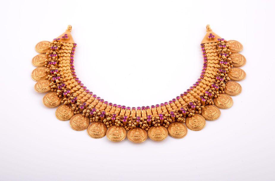 Antique bhima jewellers kashu necklace aloadofball Choice Image