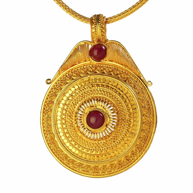 Pendants bhima jewellers gold pendant aloadofball Image collections